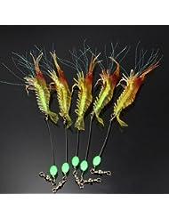 5pcs Leurre peche ccuillère hameçon appât crochet basse salmon carnassier truite