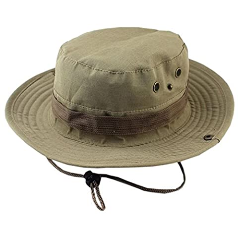 DELEY les Sports de plein air Boonie Hat Cap Camouflage Militaire de Chapeau de Seau de Voyage Bois Chapeau de Pêche 01