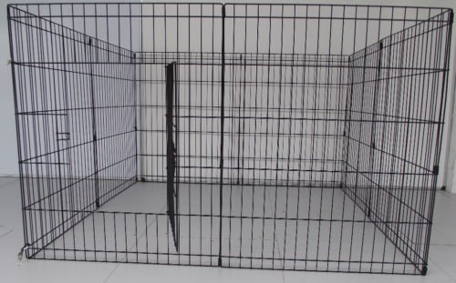 BUNNY BUSINESS 8 Panel Playpen Suitable for Rabbits/Guineas/Dogs and Cats, Small, Black 6