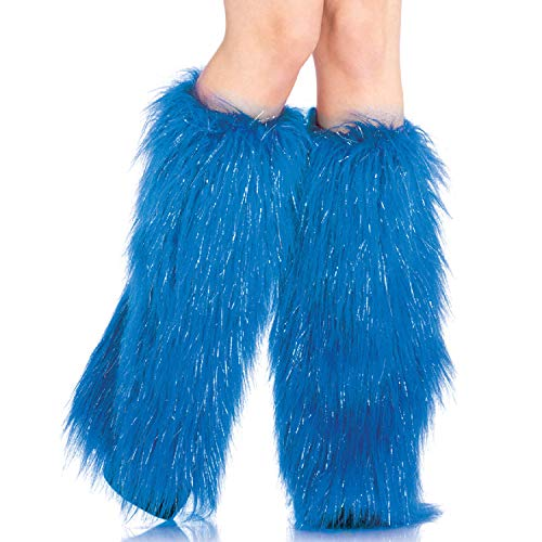 inwärmer aus Langen Fell, Einheitsgröße, blau ()