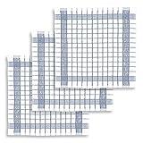 KRACHT, 3er-Set Geschirrtuch Frottier Baumwolle classic grau, Edition...
