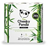 1 pack of 9 The Cheeky Panda 100% Bamboo luxury toilet tissue created by two young eco entrepreneurs Chris and Julie. This wonderful product is made from 100% bamboo from FSC certified sustainable bamboo forest. Bamboo is the world's fastest growing ...
