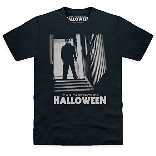 Official Halloween T-Shirt Michael Myers Stairs, Herren, Schwarz, L (Halloween Film T Shirts)