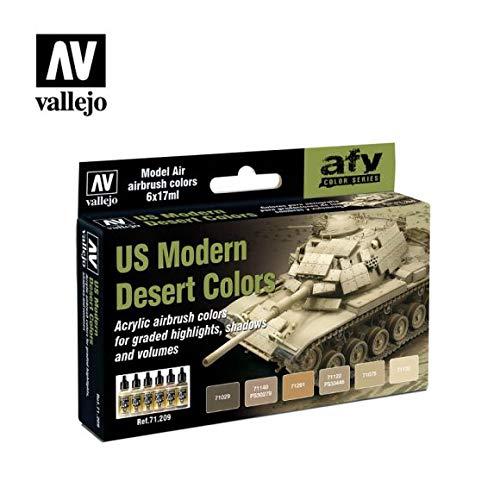 Vallejo Model Air set-US Modern Desert Colors