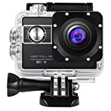 Amir Upgraded Action Camera, WiFi 1080P 12MP Waterproof 30M Large 2.0 LCD Screen Full HD 170°Ultra Wide-Angle Lens Sports Camera, with 2 1050mAh Batteries, Mounting Accessories Kits, for Easter