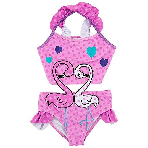 Oipoodde Mädchen-Badeanzug, Dot Lovely Swan Pattern Einteiliger Badeanzug für Mädchen Badeanzug für Kinder Schwimmkostüm für Kinder, (Größe : 2T)
