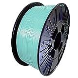 DDDMATERIAL himmelblaues PLA Filament - Made in Germany - 1,75 mm (+/- 0,05 mm) 1kg Himmelblau Blau Hellblau 3D Drucker Material 3D Stift