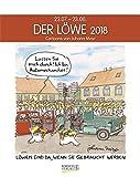Löwe 2018: Sternzeichenkalender-Cartoonkalender als Wandkalender im Format 19 x 24 cm.