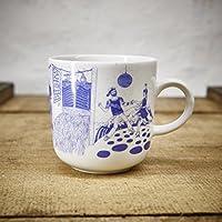 Kaffeebecher - 100% Handmade von Ahoi Marie - Motiv Hafenkneipe - Maritime Porzellan-Tasse original aus dem Norden