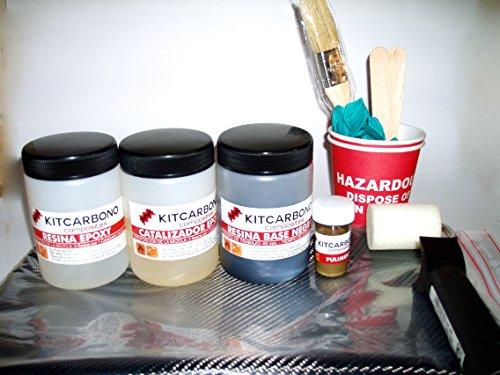 Kit Initiation de recouverts de Fibre de Carbone Carbone/Kevlar 3K kitcarbono Composites
