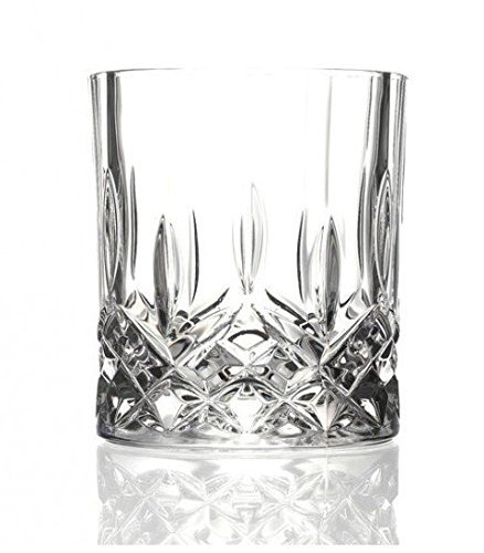 Double Old Fashioned Gläser (6 Opera Maison italienischem Kristallglas 30 cl Double Old Fashioned Whisky Tumbler Gläser)
