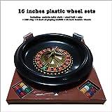"""Set da 16 """"Roulette Dia.40cm Ruota in plastica per roulette con tappetino da gioco per carte da gioco, Set da 16 pollici per roulette"""