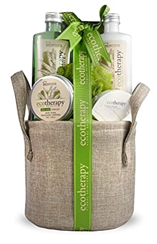 IDC INSTITUTE Basket Bag Ecotherapy Set de Bain Aloe Vera 6 Pièces