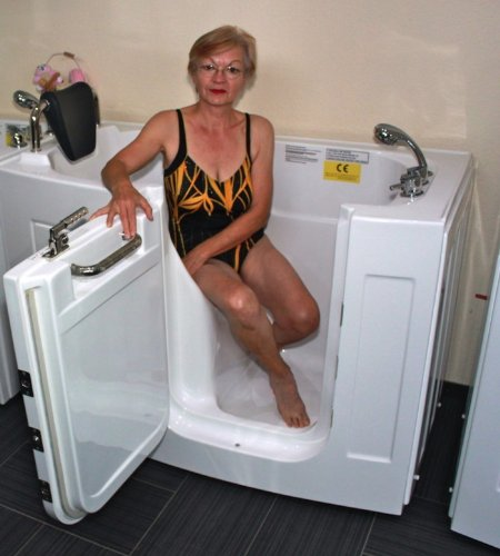 Senioren Sitzbadewanne Seniorenbadewanne Sitzwanne Badewanne mit Tür Pool A107WP