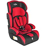 TecTake 400572 Children's Car Seat Group I / II / III (Weight 9 to 36 kg / Age 1 to 12 Years) Red / Black