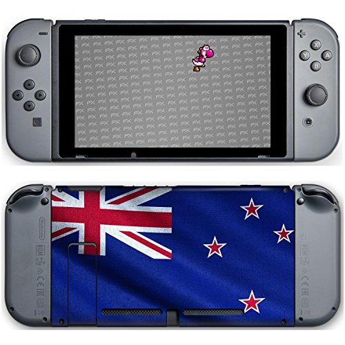 """Preisvergleich Produktbild Nintendo Switch Designfolie """"Neuseeland Flagge"""" Skin Aufkleber"""