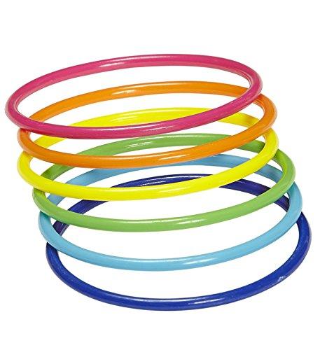 80er Jahre Set Neon Armband Schmuck 18 Stück viele Farben neonfarben