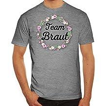 Bride Security Junggesellinnenabschied JGA Herren Männer T-Shirt Rundhals  Blumenkranz Team Braut 35db7a8ff5