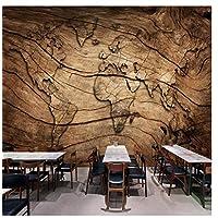 Zjxyz 3D Photo Wallpaper Wood Grain World Map Background Wall Painting Living Room Bedroom Restaurant Mural Wall Paper