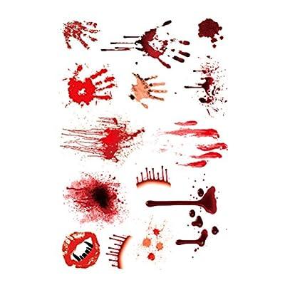 ROSENICE Tattoos Temporairement blessé Scab Blood Halloween Scar Tattoos Sticker Decor