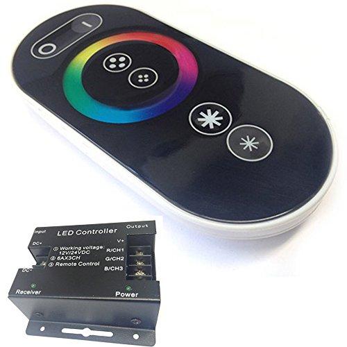Dobo® Remote Controller, Fernbedienung und Steuergerät für RGB-LED-Streifen 12/24 DC. RGB Fernbedienung mit Touchfunktion für RGB-LED-Streifen -