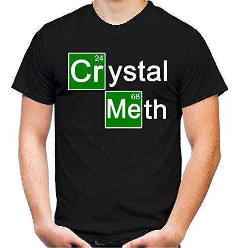 Meth Männer und Herren T-Shirt | Spruch Walter White Geschenk (S, Schwarz) (Crystal Meth Breaking Bad Kostüm)