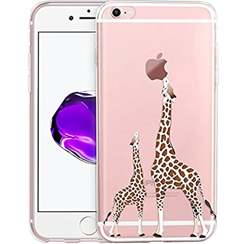 iPhone 6 Case, iPhone 6s Case, Yoowei Cute Cartoon Giraffe Ultra Light Soft Jelly Clear Gel TPU Silicone Shockproof Phone Case Protective Back Cover for Apple iPhone 6/6s 4.7 inch
