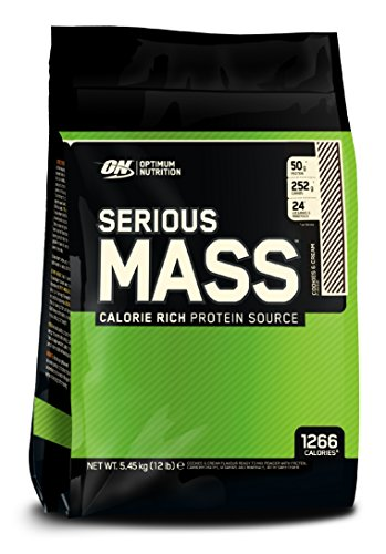 Optimum Nutrition Serious Mass Sports Supplement, Cookies and Cream, 5.44 kg