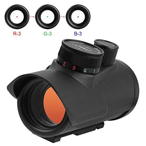 AOMEKIE Red Green Dot Visier Reflexvisier Reflex Sight mit Tactical 4 Reticles für 11mm/20mm/22mm Weaver Oder Picatinny Railsysteme