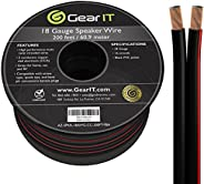 GearIT 18AWG Speaker Wire, Pro Series 18 Gauge Speaker Wire Cable (200 Feet / 60 Meters) Great Use for Home Th