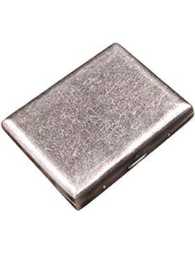 CaLeQi Antiguo Cobre Color De Plata, Sostiene Cigarrillos 20. (Con La Caja De Regalo De Marca)