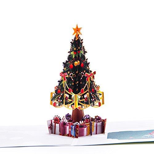achtskarte Pop Up Weihnachten Card Geburtstagskarte Kinder Winter Season Feiertagskarte (Kleiner Weihnachtsbaum) (Pop-up Ziel)