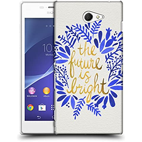Official Cat Coquillette Future is Bright Gold Quotes Typography 1 Hard Back Case for Sony Xperia