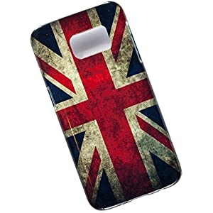 Samsung Galaxy S7 Protective Slim Case. Tasche Cover. Union Jack. Flag of the United Kingdom. UK Flag.