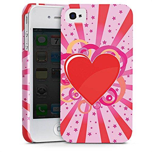 Apple iPhone X Silikon Hülle Case Schutzhülle Herz Muster Bunt Love Explosion Premium Case glänzend