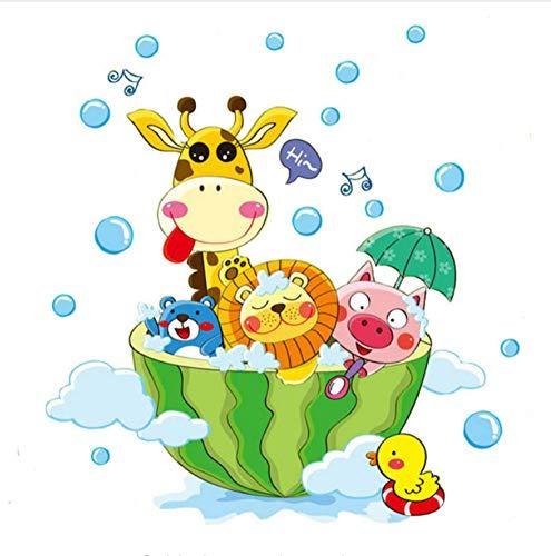 Nette Tiere Im Bad Dusche Wandaufkleber Für Kinderzimmer Baby Zimmer Dekoration Kunst Decals Dekor (Im Baby-dusche-dekorationen Freien)