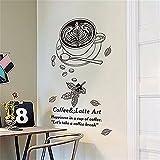 Wandaufkleber home küche restaurant kreative wandaufkleber tee shop dekoration abnehmbare wandtapetenaufkleber kaffee wandaufkleber, 50 * 70 CM