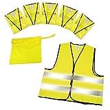 BP GmbH Warnwesten 5er-Set im Etui nach EN ISO 20471 Zertifiziert Warnweste neon-gelb Größe XXL mit Reflektorstreifen