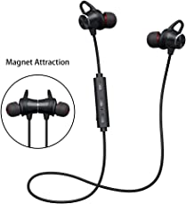 (Promozioni)Auricolari Bluetooth Magnetici stereo Hi-Fi,Cuffie Auricolari Bluetooth Sport con Microfono HD,Noise Cancelling Avanzate,8 ore di conversazione per iPhone,Huawei,Samsung,Sony,Xiaomi,Sony,LG