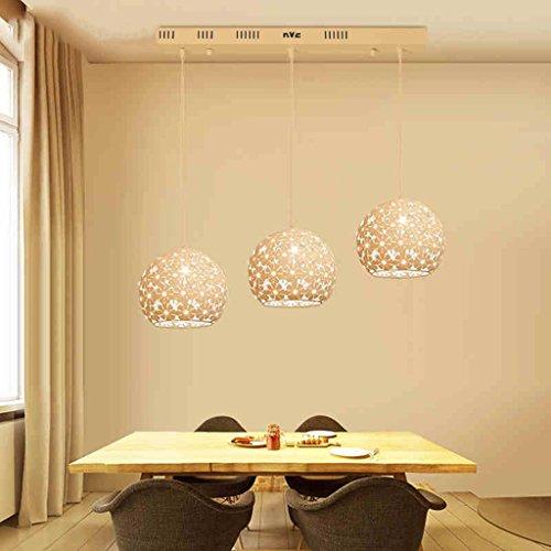 3w Single (#Kronleuchter Moderne Restaurant Kronleuchter Beleuchtung/Single Head, drei Kopf/Crystal Chandelier #Kronleuchter (Farbe : Single+3W yellow light))