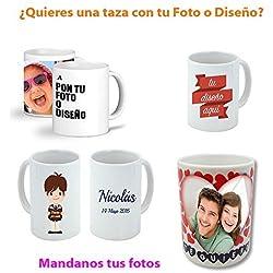 Taza Personalizada con tu foto logotipo o diseño de tu mascota hijo familiar niño bebes o persona querida taza de desayuno ideal para regalo