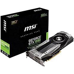 MSI GeForce GTX 1080 Founders Edition Scheda Video, Grigio