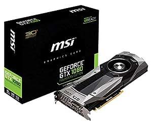 MSI GeForce GTX 1080 Founders Edition 8GB Nvidia GDDR5X 1x HDMI, 3x DP, 1x DL-DVI-D, 2 Slot Afterburner OC, VR Ready, 4K-optimiert, Grafikkarte