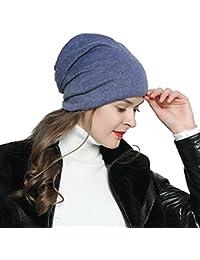 DonDon Mujer Jersey Gorro para todo el año clásico flexible gorro  transpirable suave y adaptable a d6abc0cb1b4