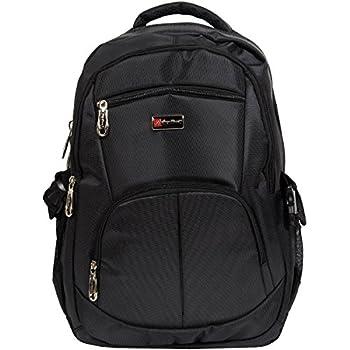 """City Rucksack Schule Arbeit & Freizeit Bag Schulrucksack Sportrucksack Backpack Laptoprucksack Laptopfach 15"""" - schwarz"""