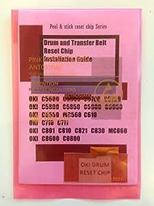 Super Easy Drum Reset Sticker chip for OKI C5600 C5650 C5700 C5750 C5800 C5850 C5900 C5950 C5550 MC560 C610 C710 C711 MC760 MC770 MC780 C801 C810 C821 C830 MC860 C8600 C8800, ES5460, ES2632, CX2033, OLIVETTI MF3201