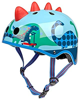 Micro Safety Helmet 3d Scootersaurus Small for Boys and Girls Cycling Scooter Bike from Micro