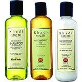 Khadi Mauri Combo of Pure Herbal Anti Dandruff Shampoo -210 ml,Anti Dandruff Oil -210 ml and Pure Herbal Alovera Conditioner -210ml