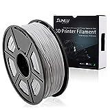 SUNLU 3D Printer Filament PLA Plus, 1.75mm PLA Filament, 3D Printing Filament Low Odor, Dimensional Accuracy +/- 0.02 mm, 2.2 LBS (1KG) Spool 3D Filament, Silver PLA+