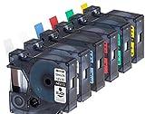 6 Schriftband Kompatibel für Dymo D1 12mm